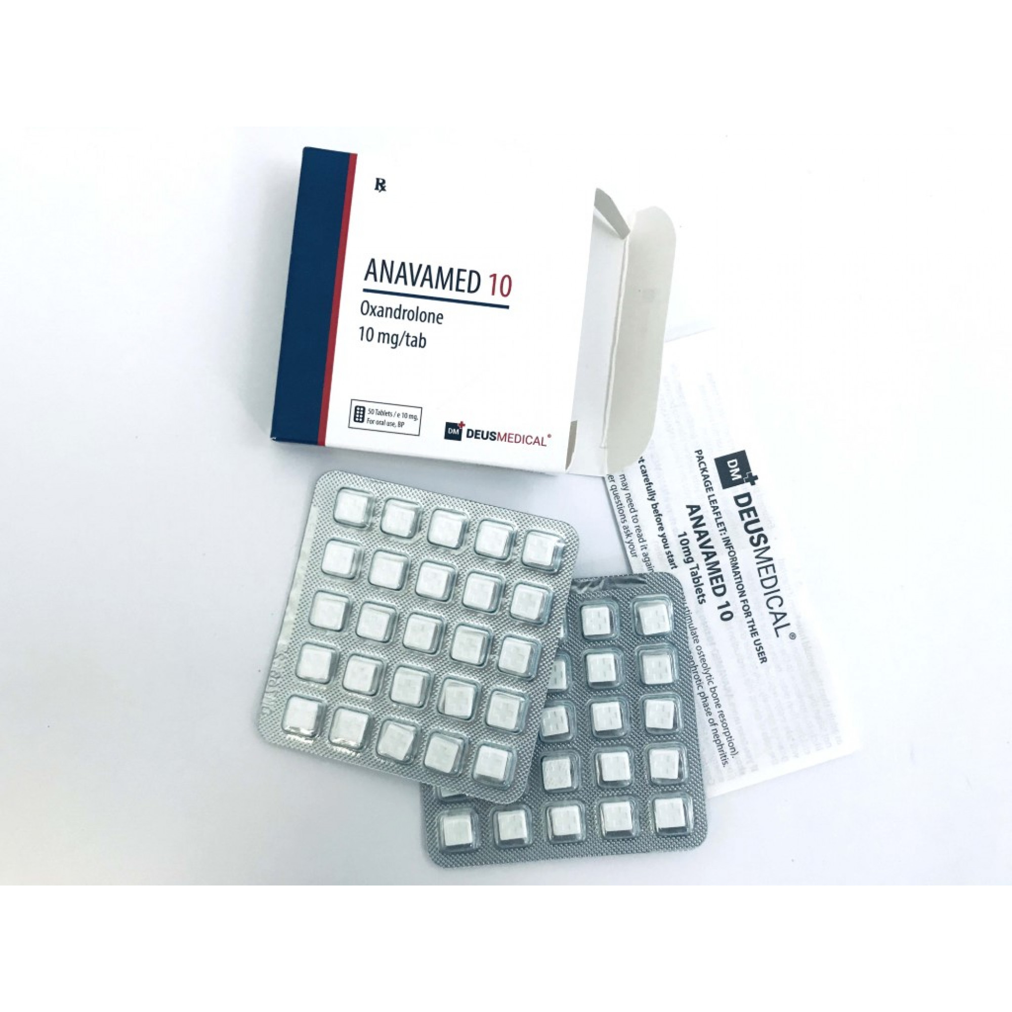 ANAVAMED 10 (Oxandrolone), DEUS MEDICAL, BUY STEROIDS ONLINE - www.DEUSPOWER.com
