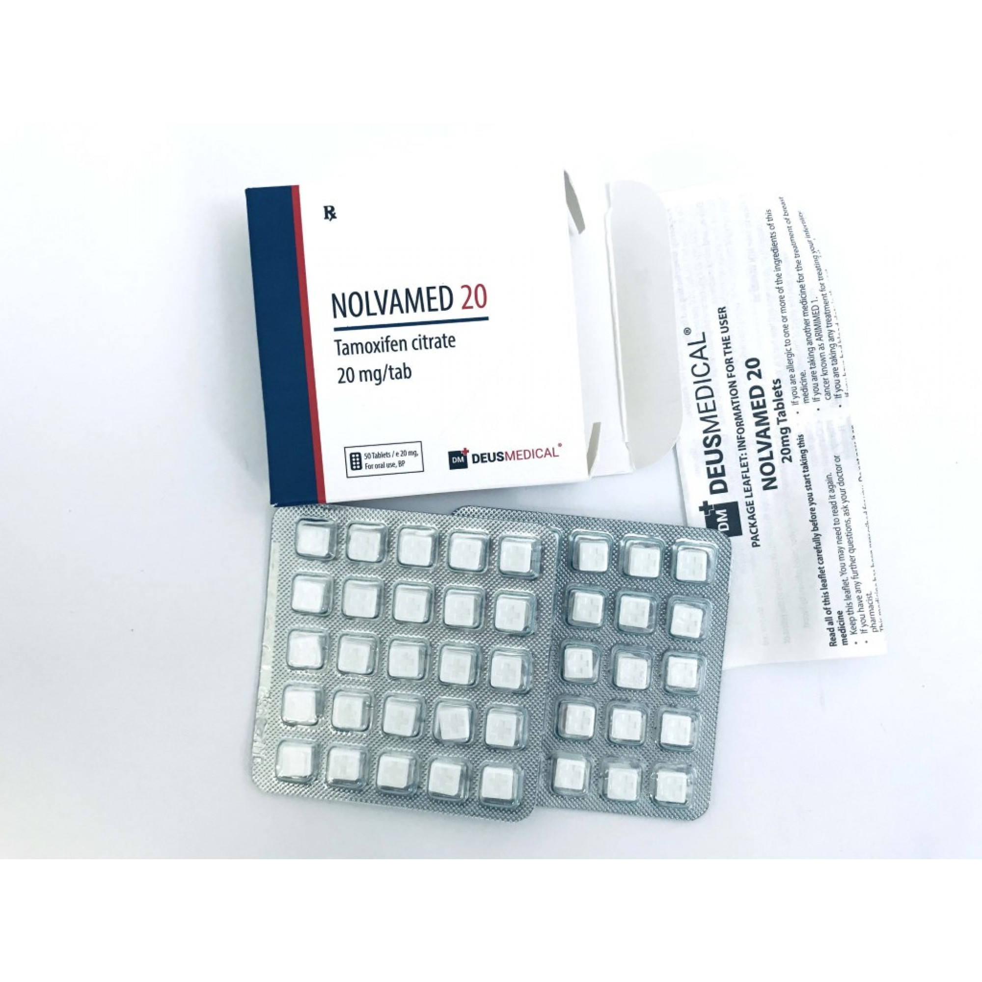 NOLVAMED 20 (Tamoxifen citrate), DEUS MEDICAL, BUY STEROIDS ONLINE - www.DEUSPOWER.com