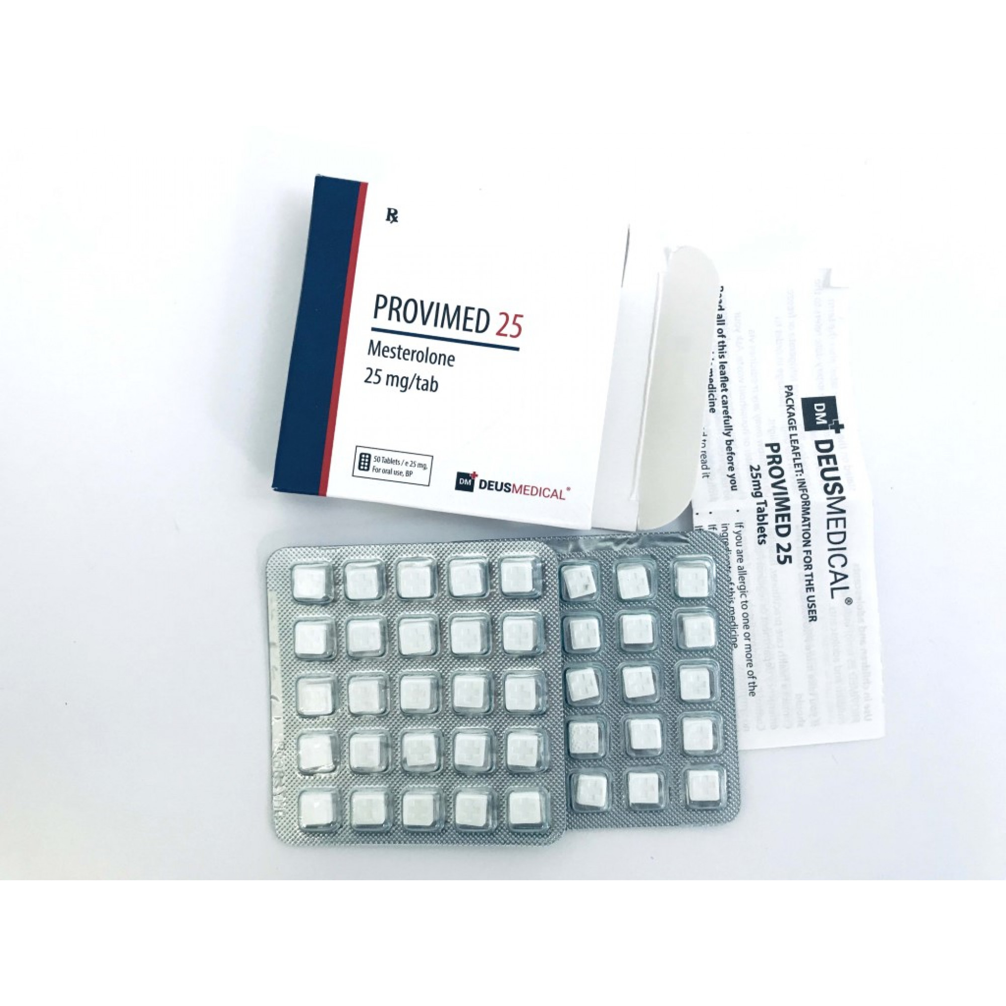 PROVIMED 25 (Mesterolone), DEUS MEDICAL, BUY STEROIDS ONLINE - www.DEUSPOWER.com
