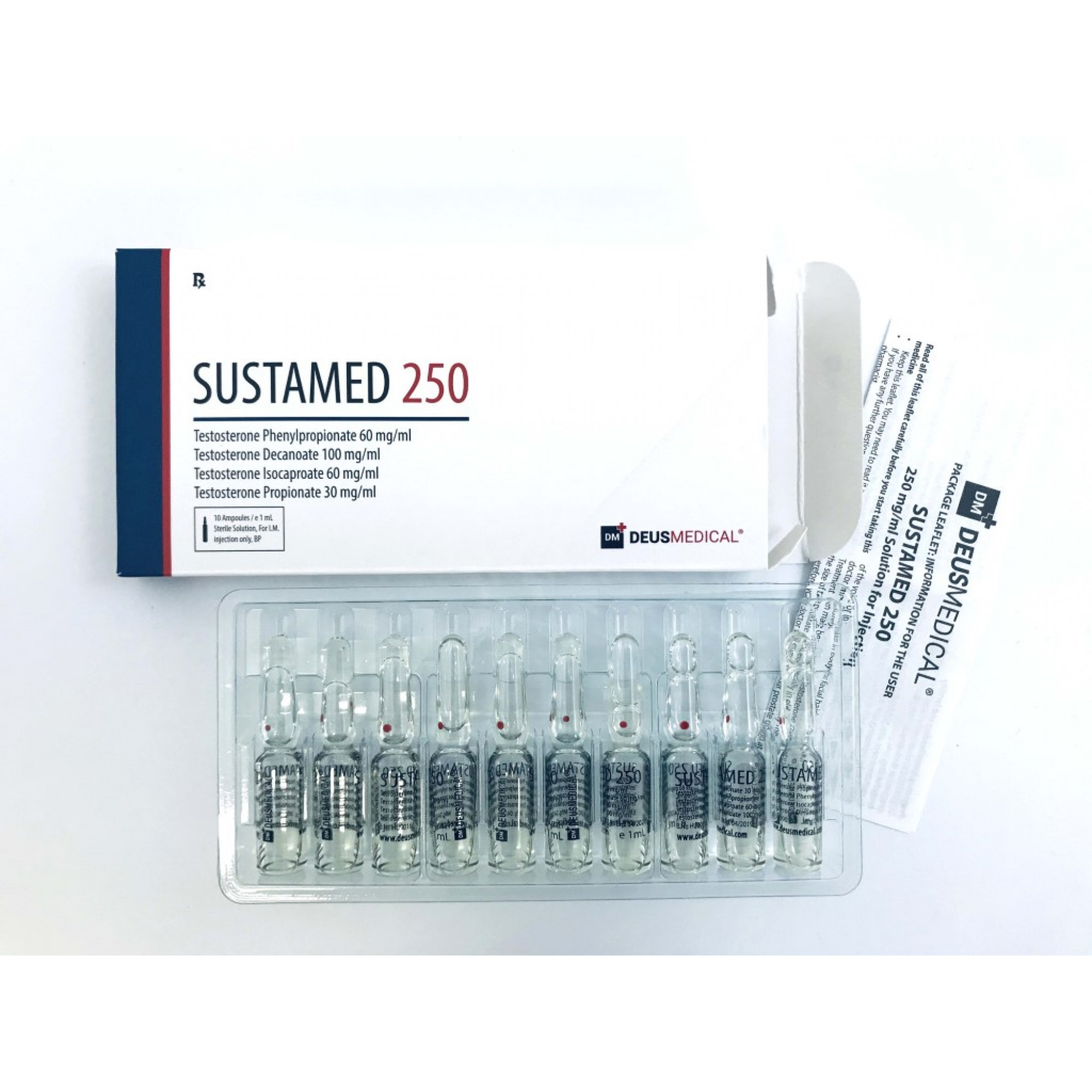 SUSTAMED 250 (Sustanon), DEUS MEDICAL, BUY STEROIDS ONLINE - www.DEUSPOWER.com
