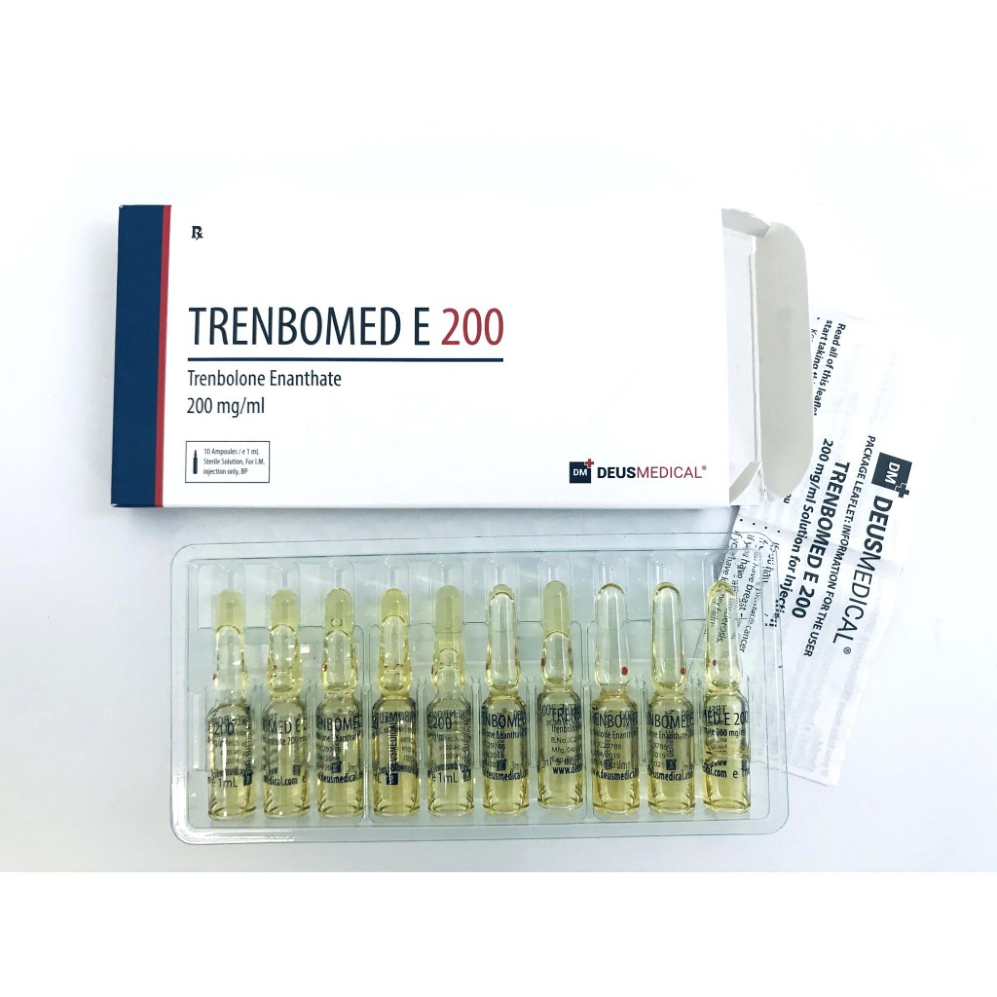 TRENBOMED E 200 (Trenbolone Enanthate), DEUS MEDICAL, BUY STEROIDS ONLINE - www.DEUSPOWER.com