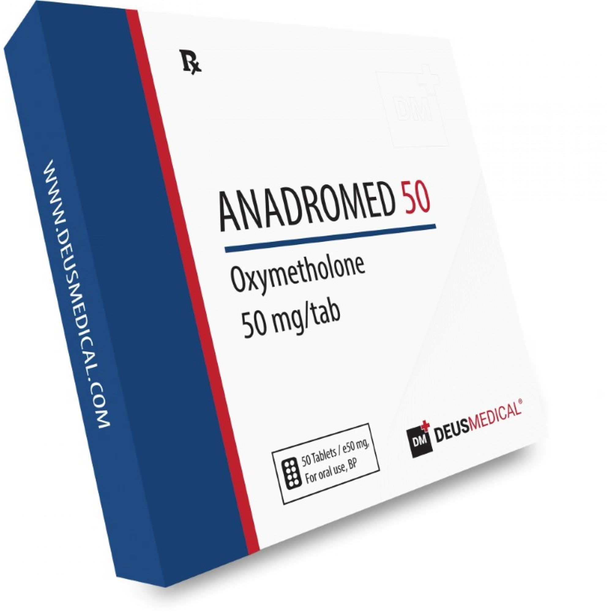 ANADROMED 50 (Oxymetholone), DEUS MEDICAL, BUY STEROIDS ONLINE - www.DEUSPOWER.com