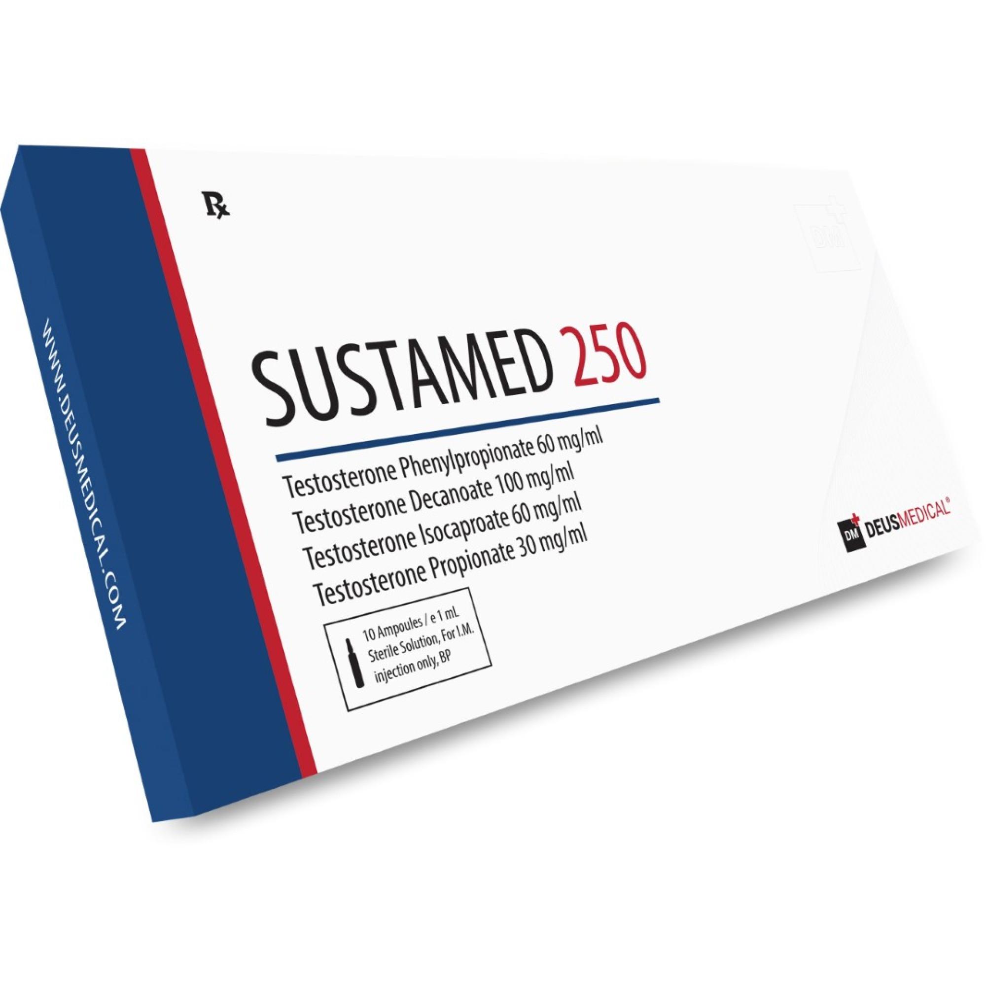 SUSTAMED 250 (Sustanon), DEUS MEDICAL, BUY STEROIDS ONLINE - www.DEUSPOWER.com