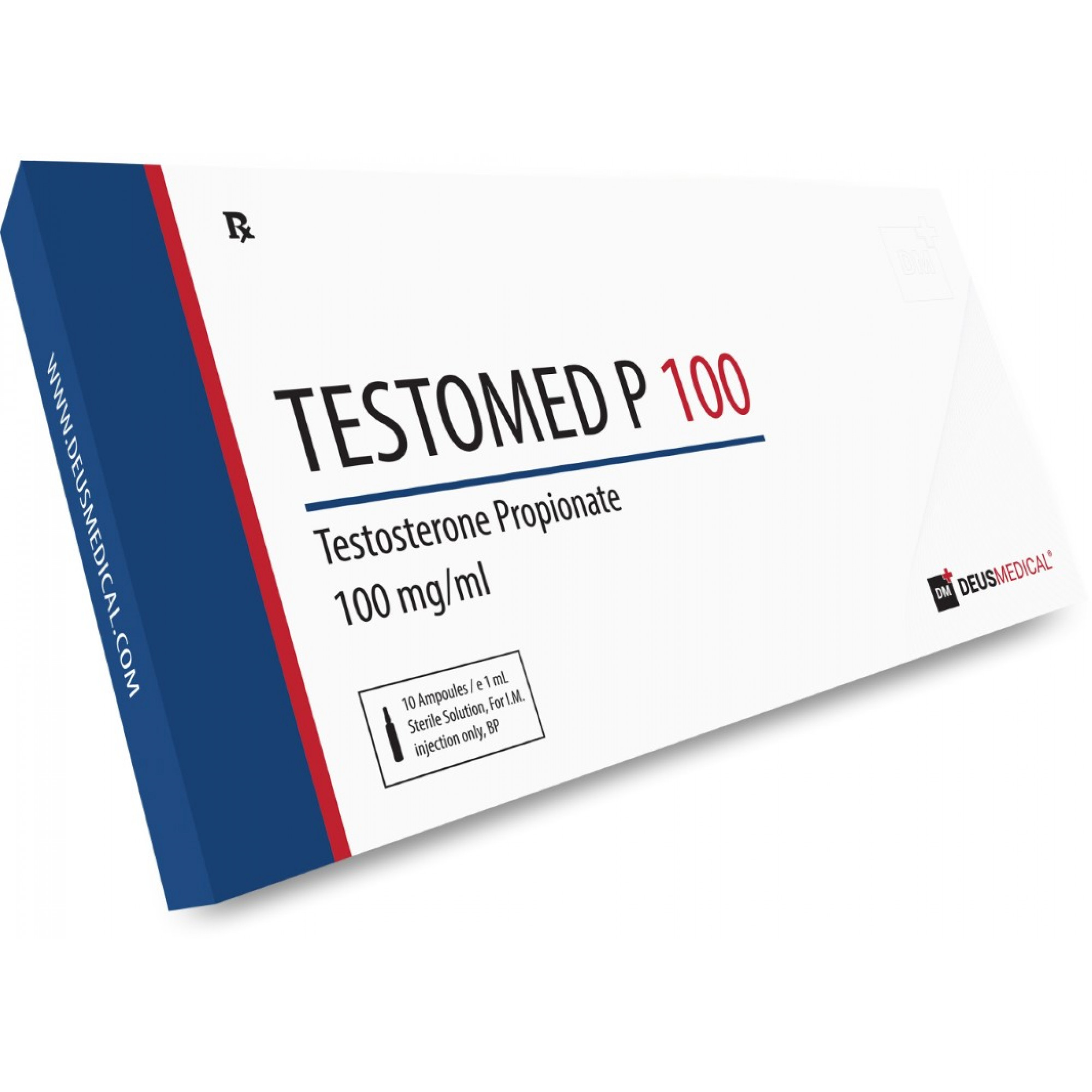 TESTOMED P 100 (Testosterone Propionate), DEUS MEDICAL, BUY STEROIDS ONLINE - www.DEUSPOWER.com