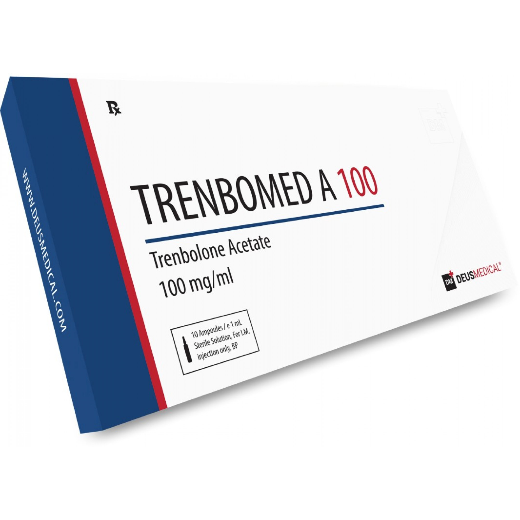 TRENBOMED A 100 (Trenbolone Acetate), DEUS MEDICAL, BUY STEROIDS ONLINE - www.DEUSPOWER.com